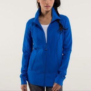 Lululemon Nice Asana Pipe Dream Blue Zip-Up Jacket